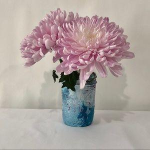 Hydro Dipped Small Mason Jar Flower Vase